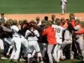 Видео массовой драки бейсболистов