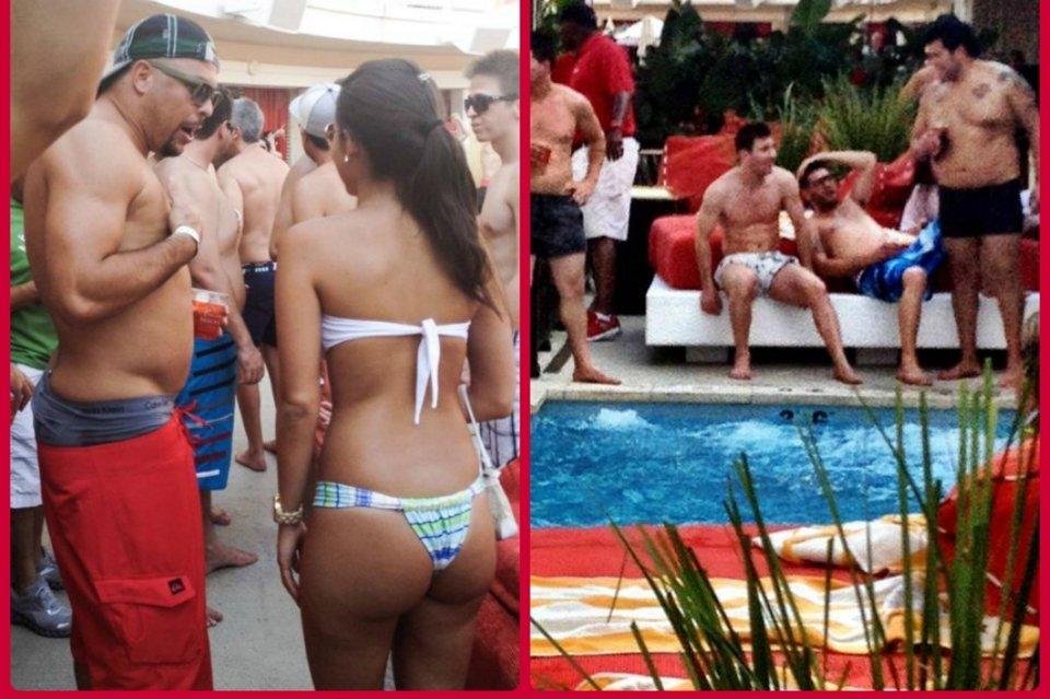 Месси и Роналдо на вечеринке у бассейна в Лас-Вегасе