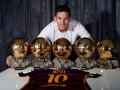 Месси сделал снимок со своими Золотыми мячами