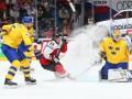 Швеция - Австрия 9:1 видео шайб и обзор матча ЧМ по хоккею