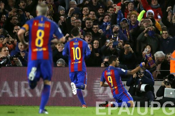 «Барселона» забила семь безответных мячей «Эркулесу» вматче Кубка Испании пофутболу