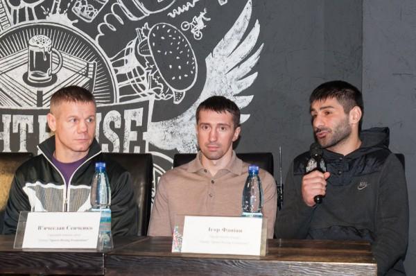 Тренеры проекта Юрий Нужненко, Вячеслав Сенченко и Игорь Фаниян