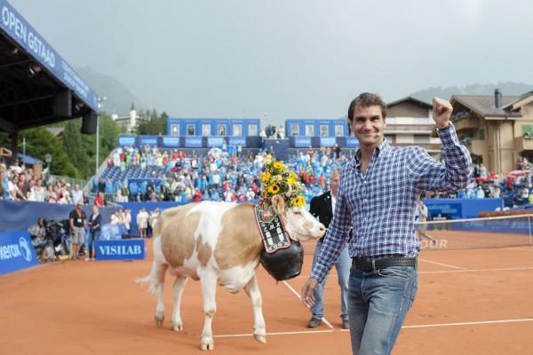 Федерер и его корова Дезире