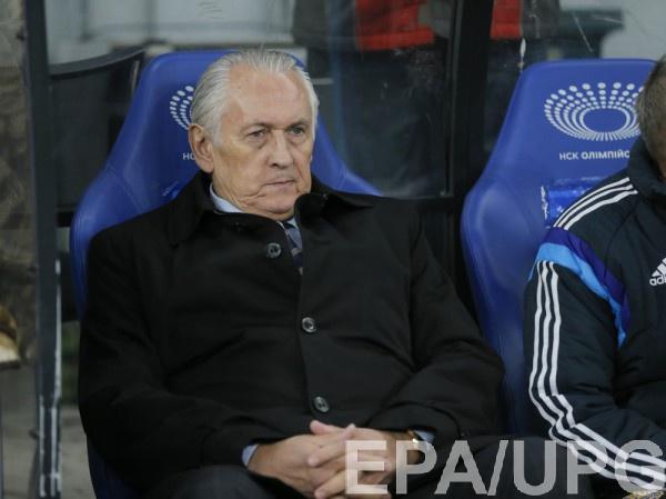 Тренер сборной Украины Михаил Фоменко