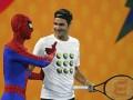 Федерер научил Спайдермена держать ракетку и сыграл в теннис с Тором