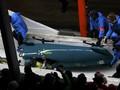 Во время бобслейных соревнований перевернулось три экипажа