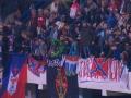 На матче Черногория – Россия были вывешены флаги Новороссии