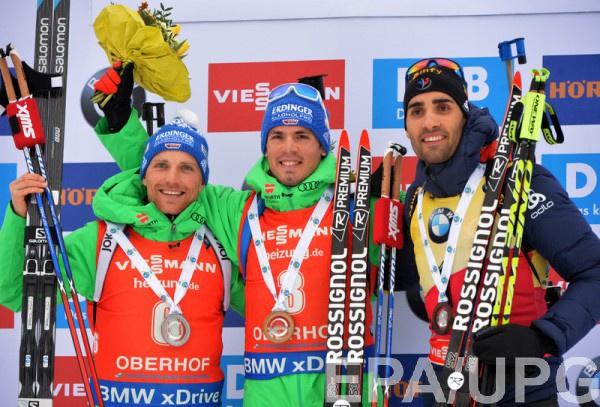 Тройка призеров масс-старта Оберхофа