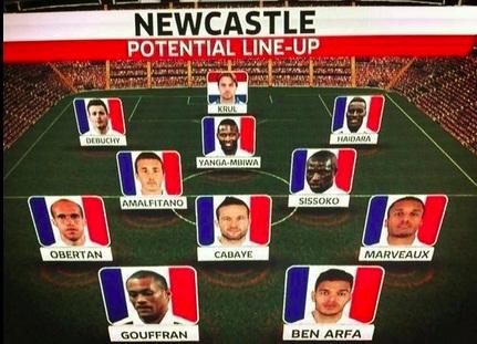 Потенциальный стартовый состав - 10 французов + 1 вратарь