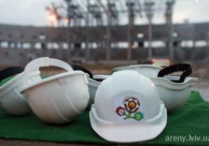 Во Львове бастуют строители нового стадиона