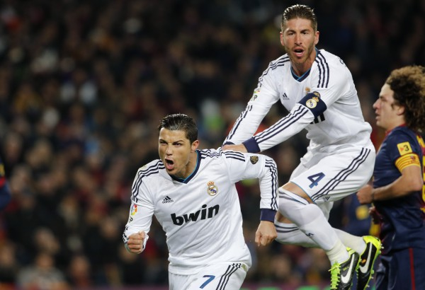 Роналду дважды забил Барселоне