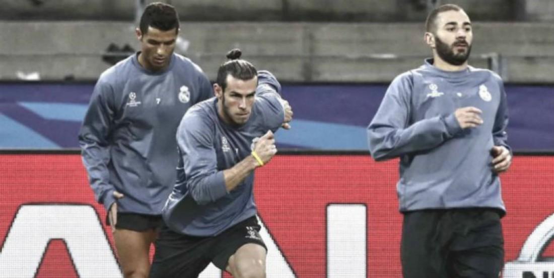 Роналду, Бэйл и Бензема на тренировке перед матчем с Боруссией Д