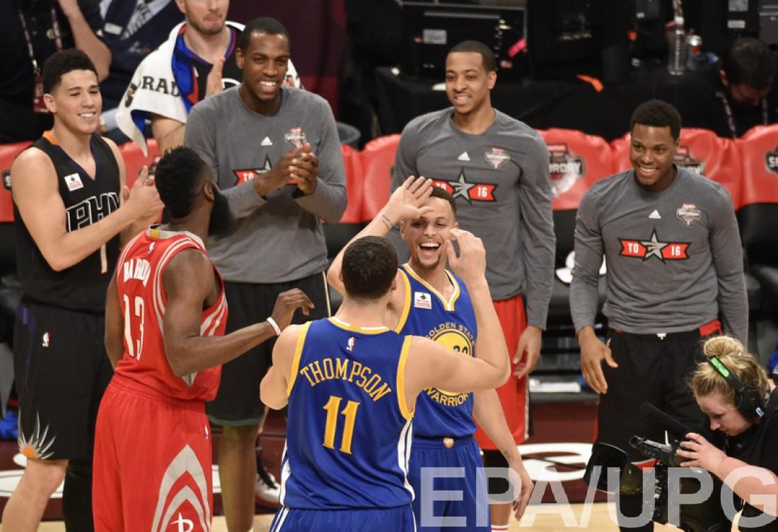 Два самых метких игрока НБА - Стеф Карри и Клэй Томпсон