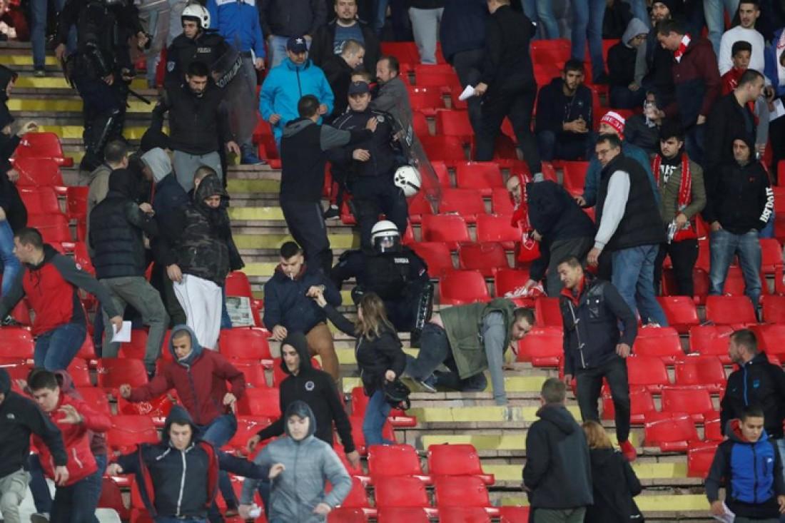 Потасовка перед матчем Црвены Звезды и Ливерпуля