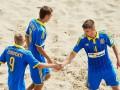 Сборная Украины по пляжному футболу забила девять мячей Чехии
