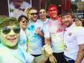 Усик и Беринчик, облитые краской, пробежались по Киеву