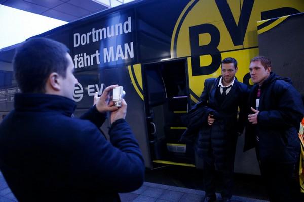 Боруссия пригнала в Донецк свой автобус