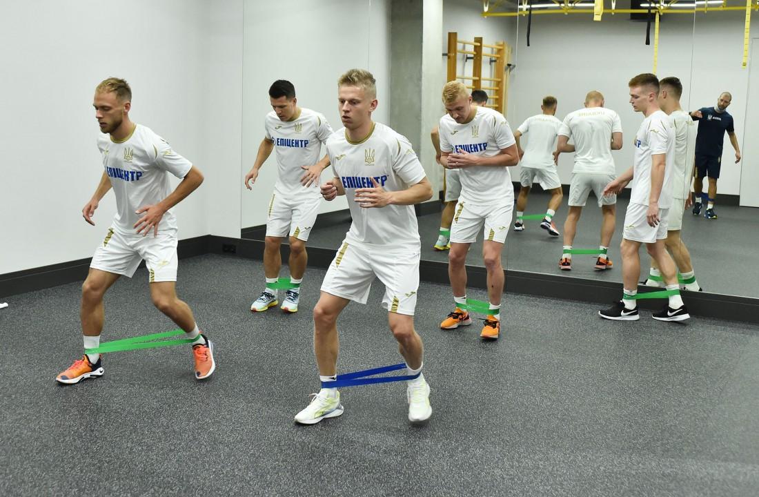 Сборная Украины провела первую тренировку перед матчами Лиги наций