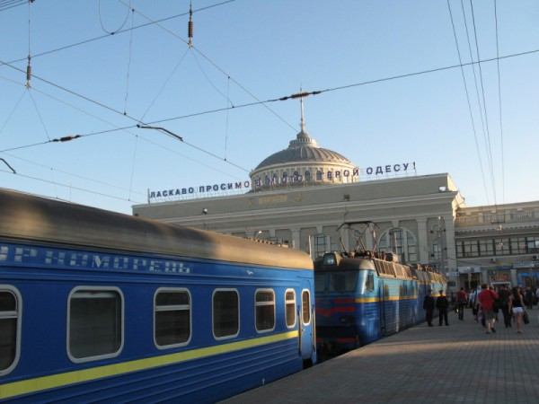 Черноморец поездом добирался в Полтаву