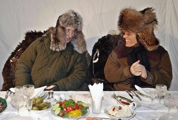 Сильвио Берлускони и Владимир Путин