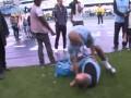 Игрок МанСити напал на работника клуба с надувным дельфином