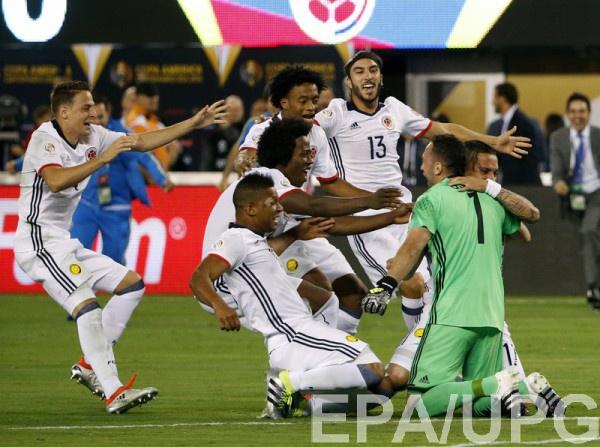 Колумбия пробилась в полуфинал