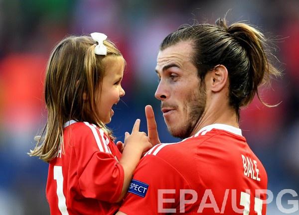 Гарет Бэйл с дочерью