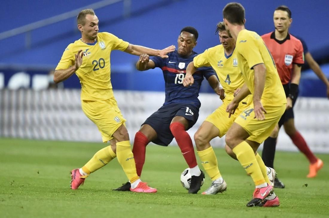 Украина в матче против Франции