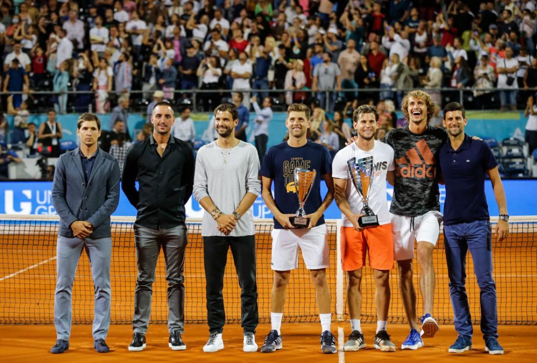 Новак Джокович с участниками турнира Adria Tour