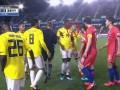 Игрок сборной Колумбии показал расистский жест игрокам Южной Кореи