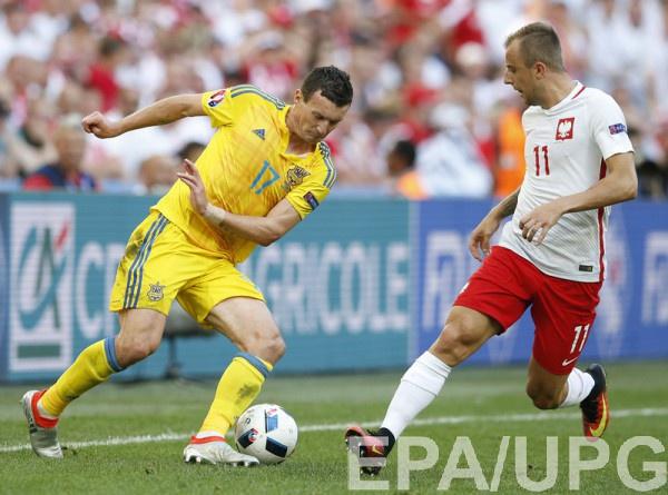 Артем Федецкий в матче против Польши