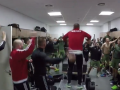Футболисты польского клуба устроили победный дебош в раздевалке