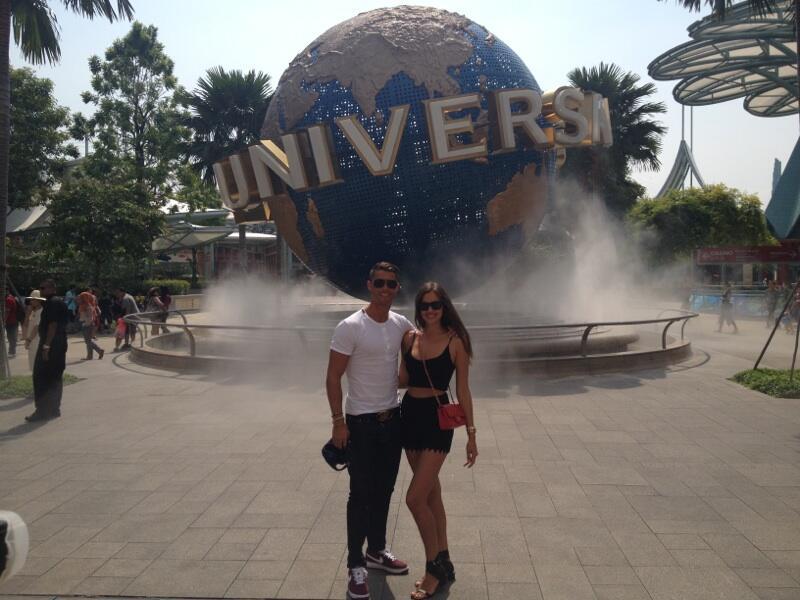 Криштиану и Ирина Шейк в Сингапуре