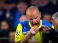 Игрок АПОЭЛа теряет зубы на поле Сантьяго Бернабеу