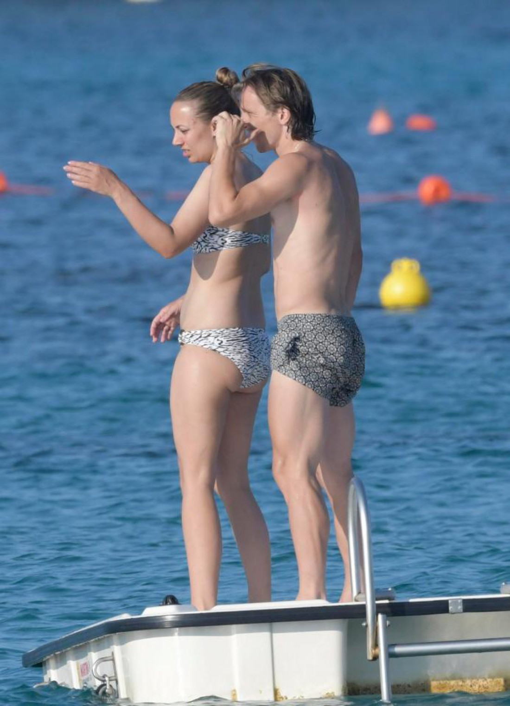Лука Модрич с супругой