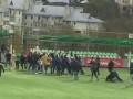 В России фанаты устроили массовую драку прямо на поле во время матча
