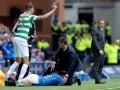Брутальный шотландский футбол: хавбек Рейнджерс сбил в подкате своего же тренера