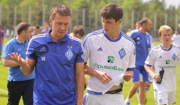 Тренер Динамо Валентин Белькевич и Роман Яремчук