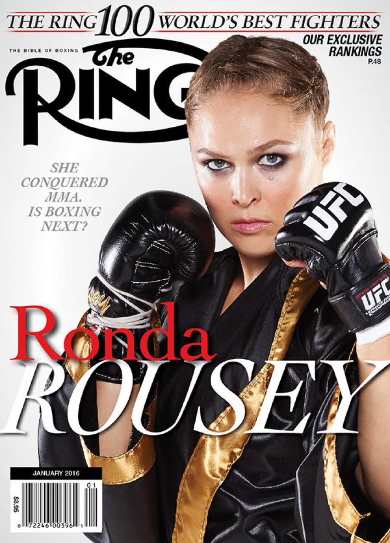 Ронда Роузи появилась на обложке журнала The Ring