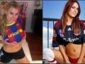 Барселона vs Бавария. Битва фанаток-порнозвед