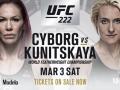Сайборг – Куницкая: видео онлайн трансляция боя UFC 222