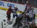 По окончании матча NHL произошла массовая драка