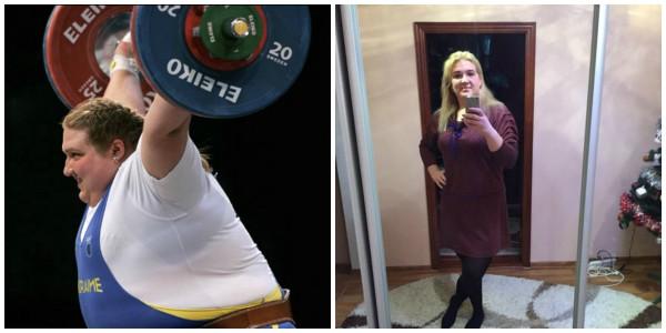Ольга во во время спортивной карьеры и сейчас