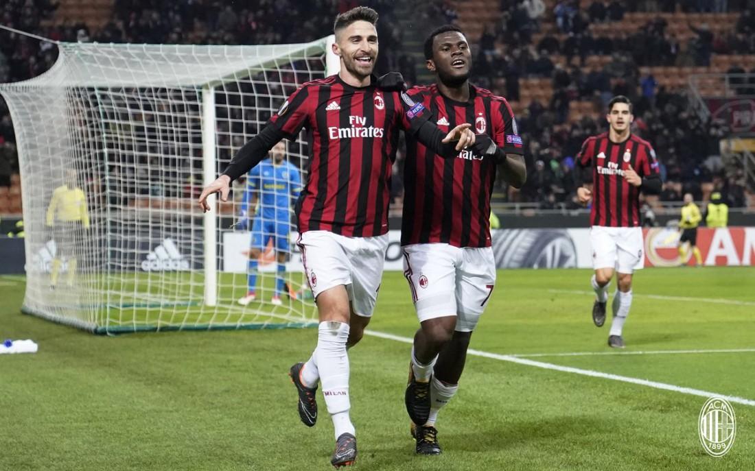 Милан уверенно прошел в 1/8 финала Лиги Европы