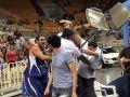Стул-контакт. Сербские и греческие баскетболисты устроили побоище