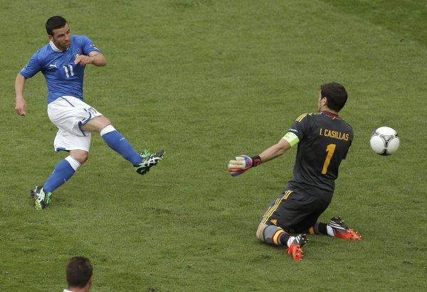 Касильяс пропустил на Евро-2012 только один гол. В первом матче с Италией от Ди Натале