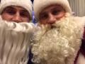 Братья Кличко в костюмах Дедов Морозов поздравили болельщиков с Рождеством