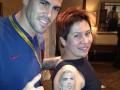 Жительница России вытатуировала на плече лицо вратаря Барселоны (ФОТО)
