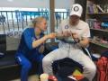 Финский тренер вязал, пока его подопечная выигрывала медаль Олимпиады