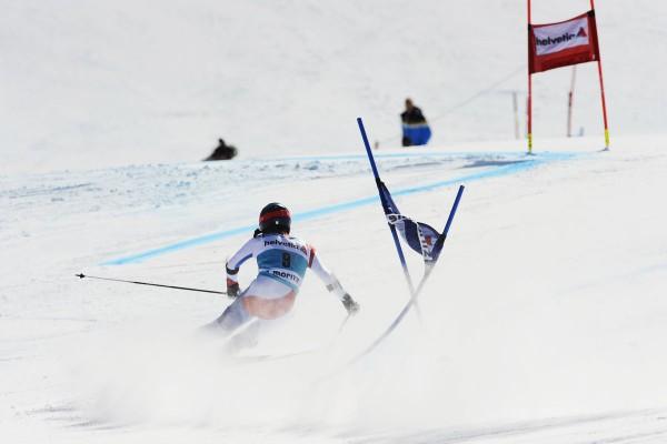 Доминика Гизин на этапе Кубка Мира